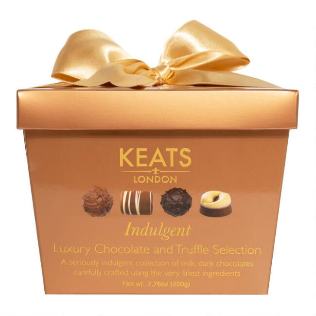 Keats Chocolate Truffles Gold Gift Box