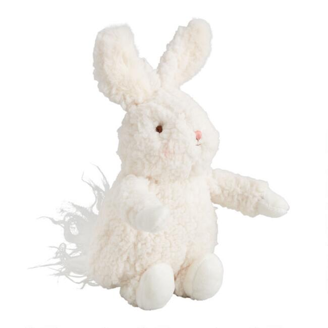 Bunnies By the Bay White Sherpa Plush Stuffed Bunny