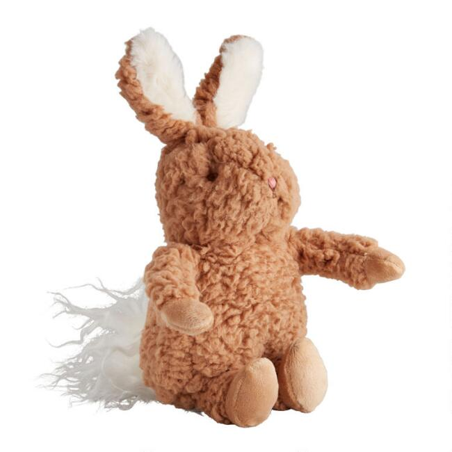 Bunnies By the Bay Brown Sherpa Plush Stuffed Bunny