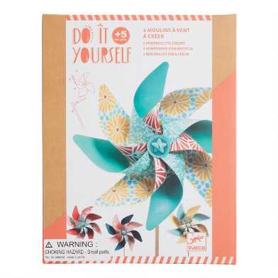 Djeco Do It Yourself Pinwheel Craft Kit
