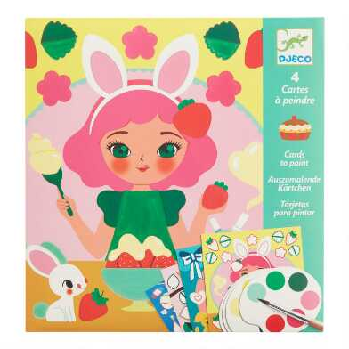 Djeco Snack Time Watercolor Paint Cards