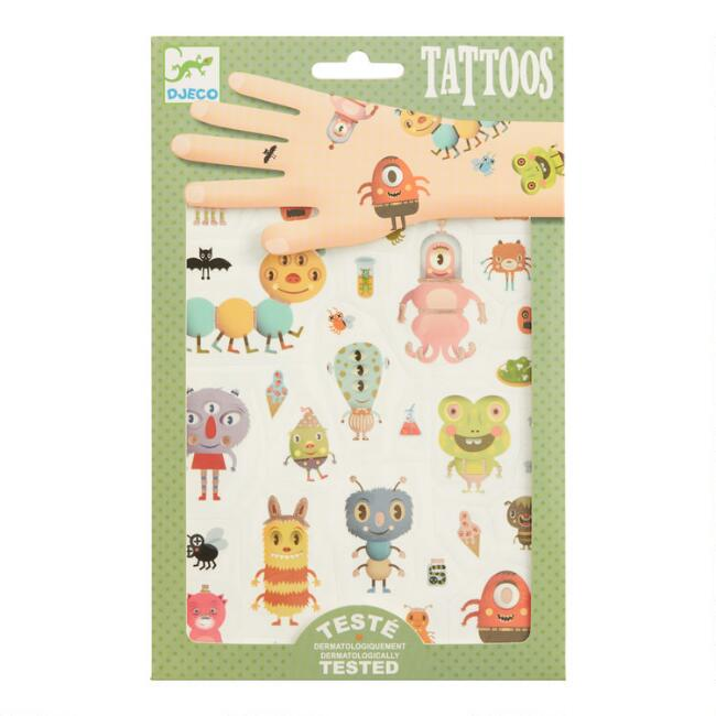 Djeco Monster Temporary Tattoos