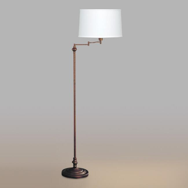 Rust Swing Arm Floor Lamp