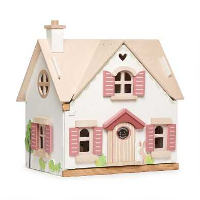 Tender Leaf Toys Cottontail Cottage Dollhouse Set