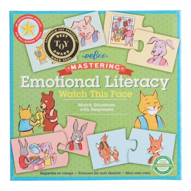 Eeboo Watch This Face Emotional Literacy Game