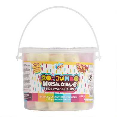 Jumbo Sidewalk Chalk Tub 20 Piece