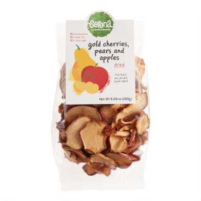 Serena Dried Gold Cherries, Pears and Apples Set of 2