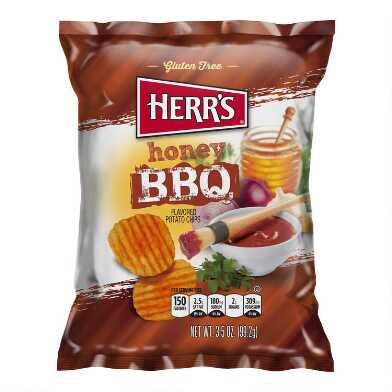 Herr's Honey BBQ Potato Chips Set of 2