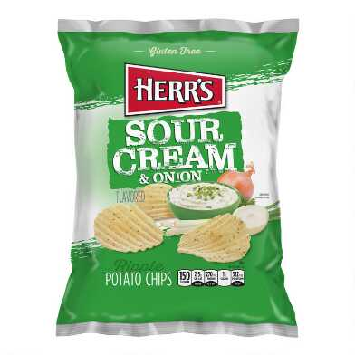 Herr's Sour Cream and Onion Potato Chips Set of 2