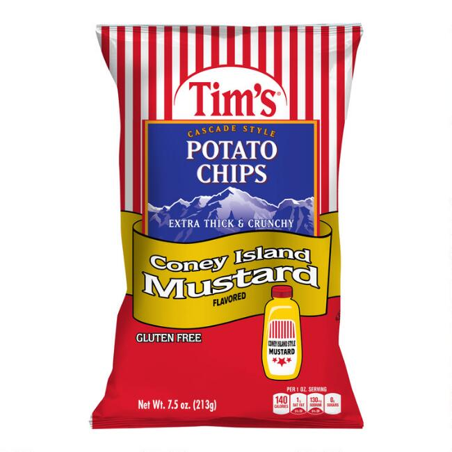Tim's Coney Island Mustard Potato Chips Set of 2