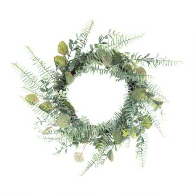 Faux Eucalyptus and Fern Wreath
