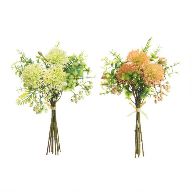 Faux Tropical Floral Bunches Set Of 2