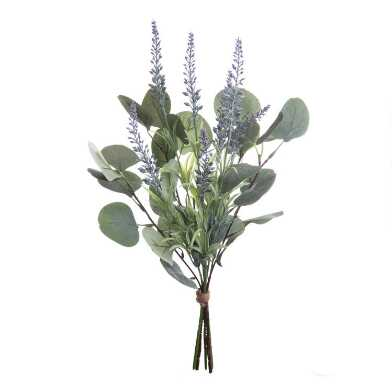 Faux Lavender And Eucalyptus Bunch