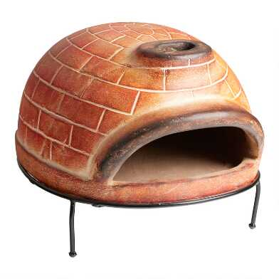 Oval Red Brick Terracotta Pizza Oven
