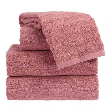 Ash Rose Sculpted Wave Towel Collection