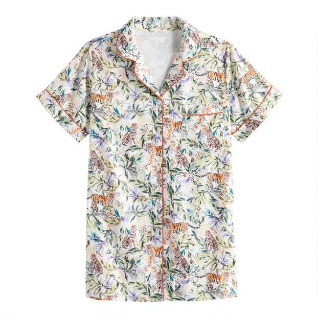 Jungle Cat Short Sleeve Nightshirt