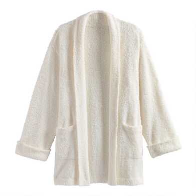 Ivory Open Front Robe