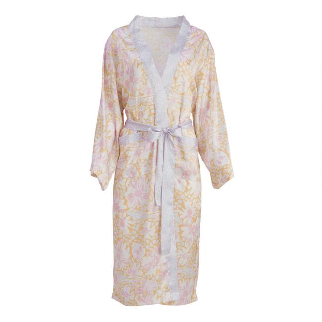 Watercolor Floral Rani Robe