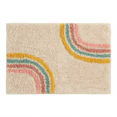 Rainbow Tufted Carly Bath Mat