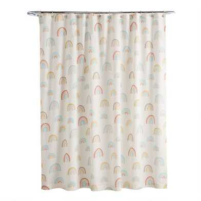 Muted Rainbow Shower Curtain