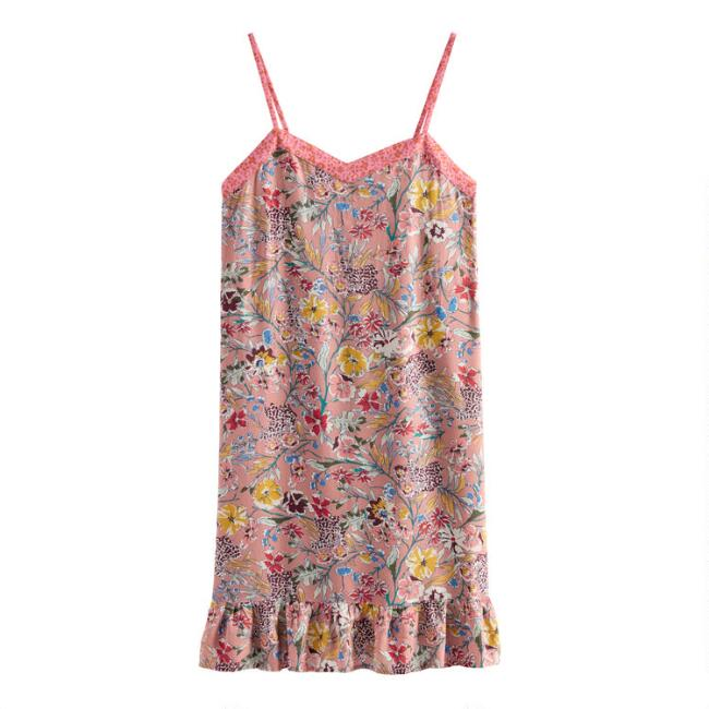 Dusty Pink Floral Lolita Chemise