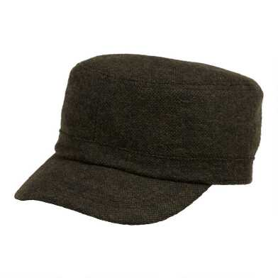 Olive Textured Military Hat