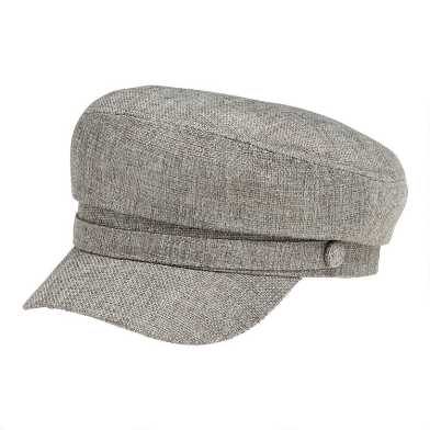 Gray Textured Military Hat