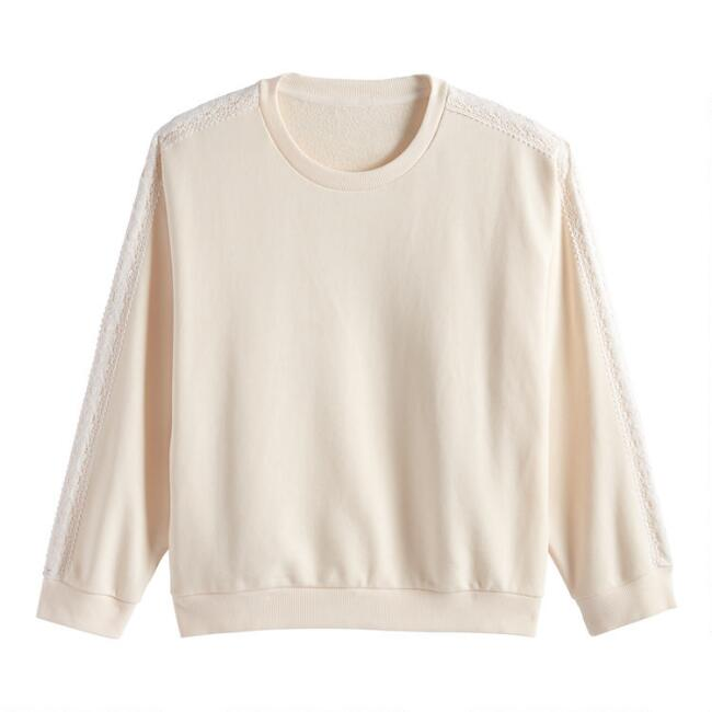 Ivory Fleece Lounge Top