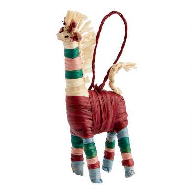 KAZI Natural Fiber Giraffe Ornament