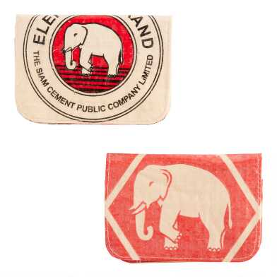 Recycled Plastic Cement Bag Card Holders Set of 2
