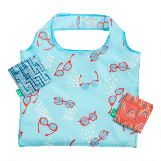 Sunny Days Foldable Tote Bags Set of 3