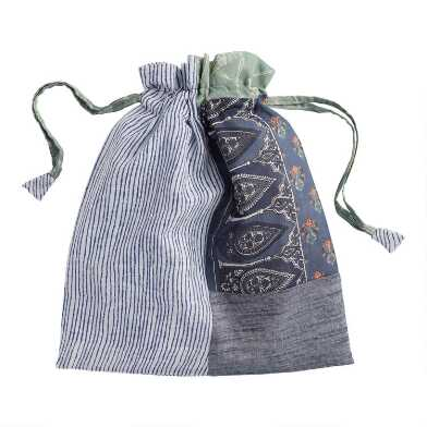 Upcycled Fabric Silaiwali Drawstring Gift Bag