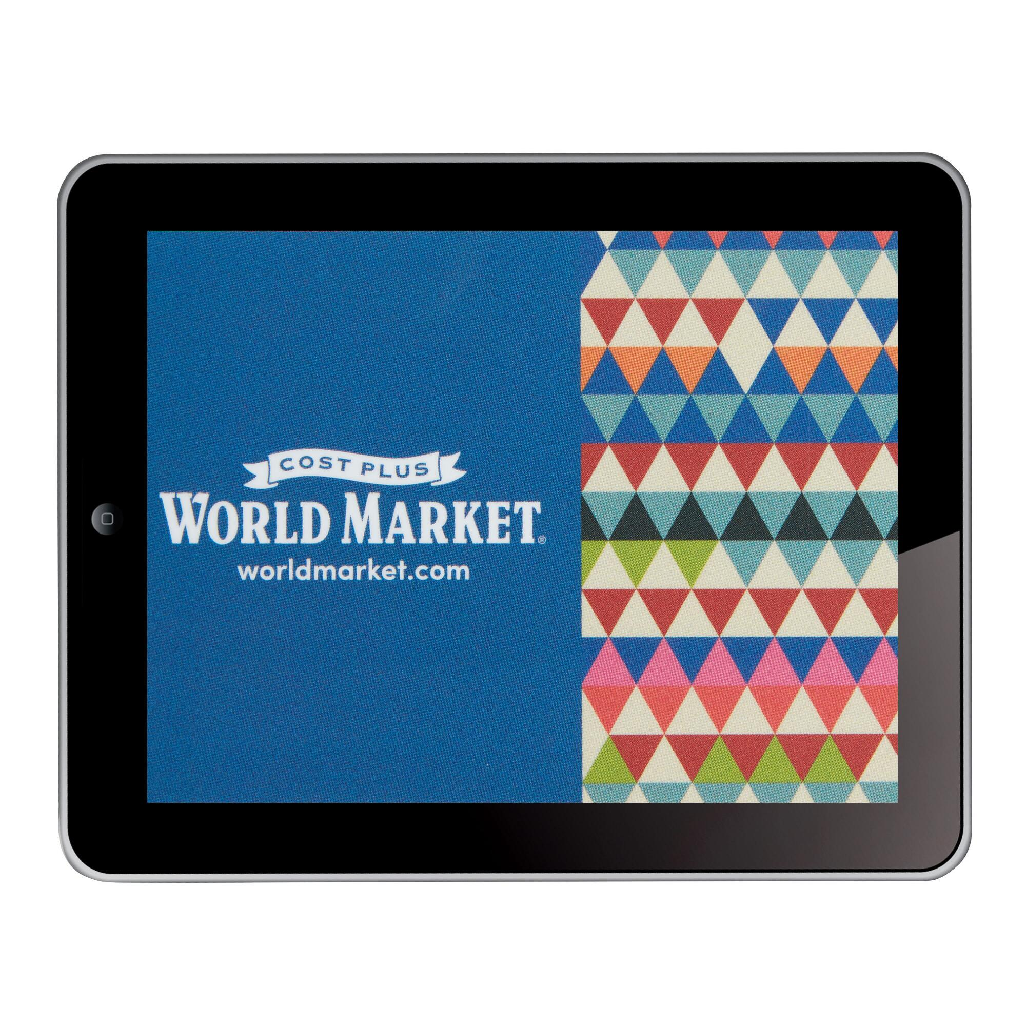 gift card marketplace e gift card 25 00 to 500 00 world market 1923