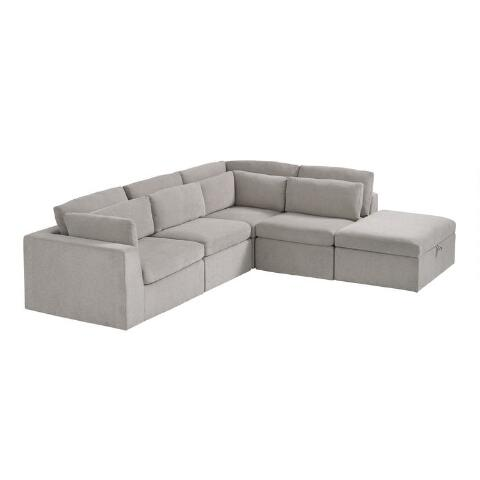 Emmett 5 Piece Square Modular Sectional Sofa