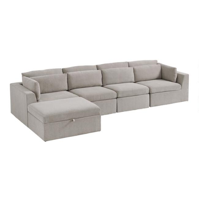 Emmett 5 Piece Long Modular Sectional Sofa