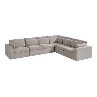 Gray Emmett 6 Piece Modular Sectional Sofa