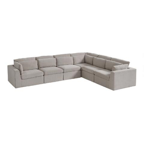 Admirable Emmett 6 Piece Modular Sectional Sofa Gmtry Best Dining Table And Chair Ideas Images Gmtryco