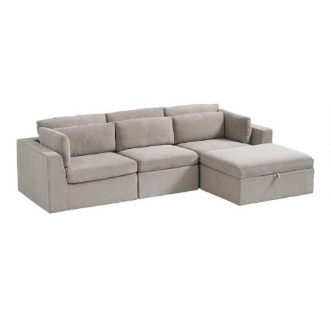 Sensational Emmett 4 Piece Modular Sectional Sofa Gmtry Best Dining Table And Chair Ideas Images Gmtryco