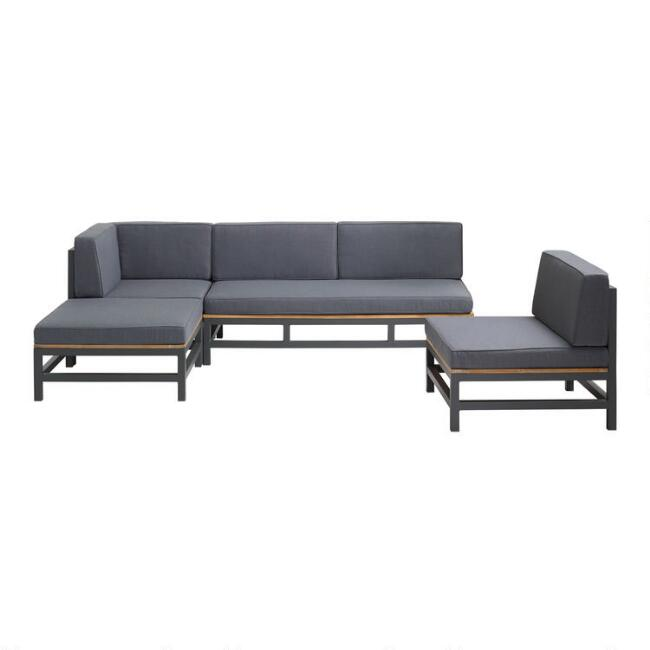 Alicante 5 Piece Outdoor Sofa Set with Chaise and Chair