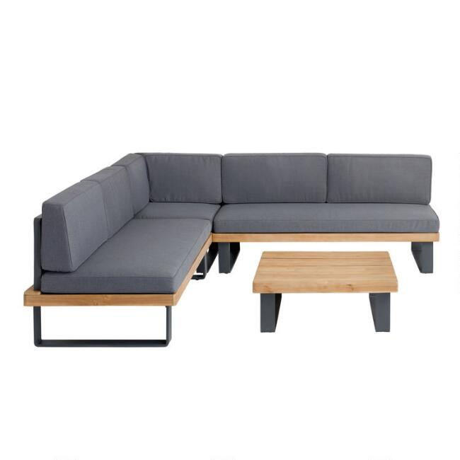 Alicante II 4 Piece Outdoor Sectional Set With Coffee Table