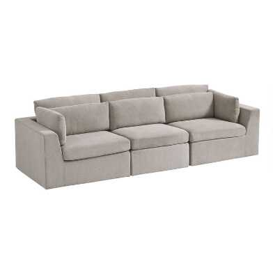 Gray Emmett 3 Piece Modular Sofa