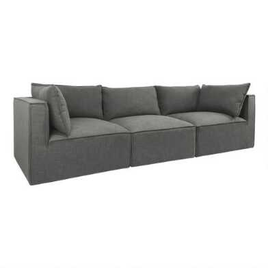 Gray Tyson 3 Piece Modular Sofa