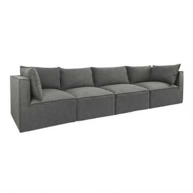 Gray Tyson 4 Piece Modular Sofa