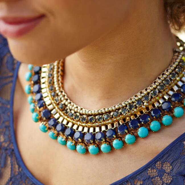 Aasmani Statement Necklace