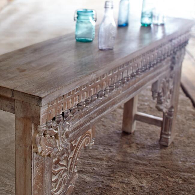Jodhpur Wood Console Table