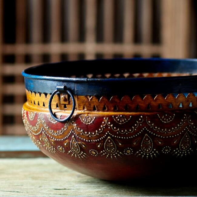 Chameli Hand-Painted Decorative Bowl