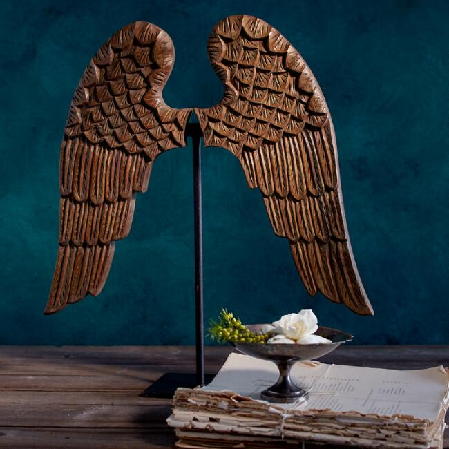 Carved Angel Wings