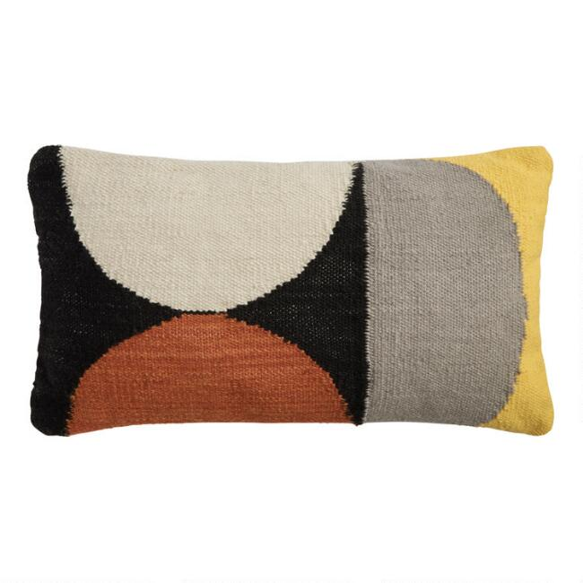 Woven Circles Indoor Outdoor Lumbar Pillow