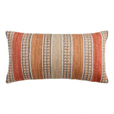 Striped Spice Indoor Outdoor Lumbar Pillow