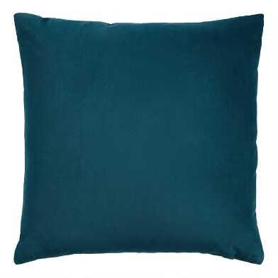 Dark Blue Velvet Throw Pillow